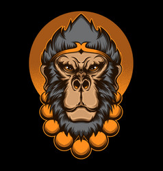 Monkey king head vector