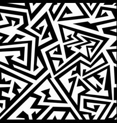monochrome maze seamless texture vector image