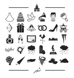 nature phenomenon ecology and other web icon in vector image