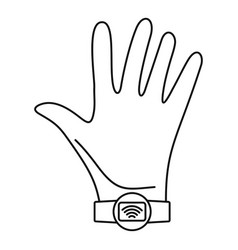 Nfc wrist band icon outline style vector