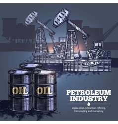 Oil industry background vector