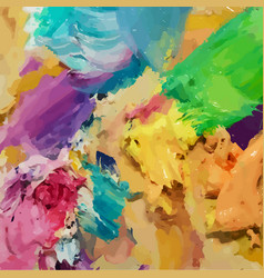 oil painting background brush strokes on the vector image