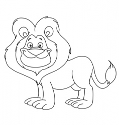 outlined lion vector image