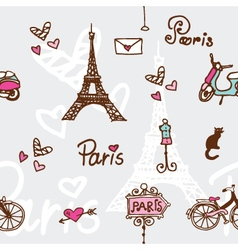 Paris - seamless pattern vector image