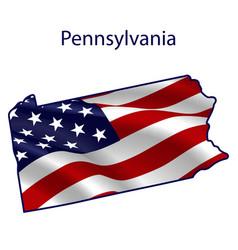 pennsylvania full american flag vector image