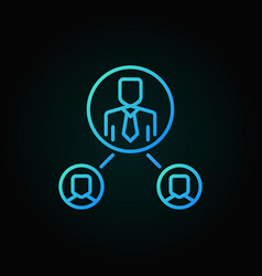 people in circles linear blue icon vector image