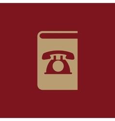 Phonebook icon design Telephone book vector