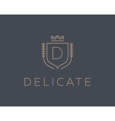 Premium monogram letter D initials ornate vector