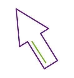 Rate rising up arrow finance commerce vector