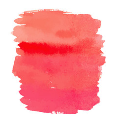 Red color watercolor hand drawn gradient banner vector