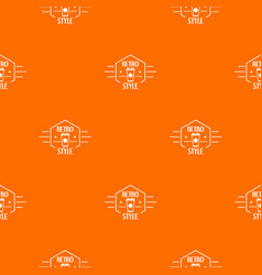 retro style pattern orange vector image