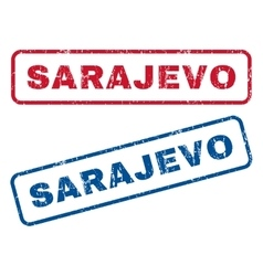 Sarajevo Rubber Stamps vector image