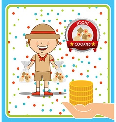 Scout cookies vector