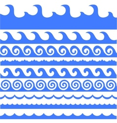 Sea Waves Set vector image