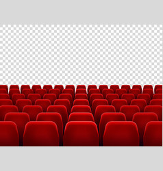 Seats at empty movie hall or seat chair for film vector