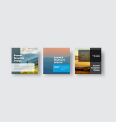 set of banners for social media with place for vector image