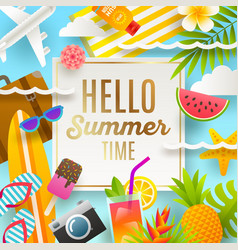 summer holidays and vacation design vector image