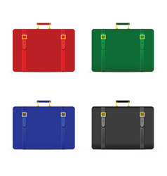 travel bag set in four color vector image
