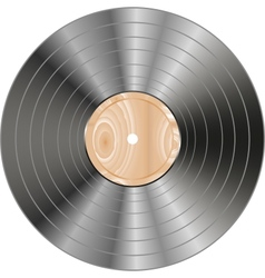 Vinyl wooden record vector