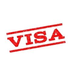 Visa watermark stamp vector