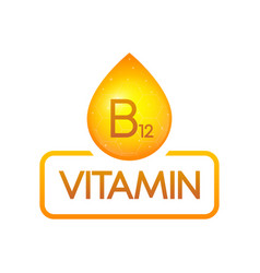 Vitamin b12 drop banner isolated on white vector
