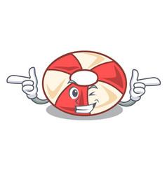 Wink swim tube character cartoon vector