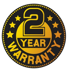 2 year warranty vector image