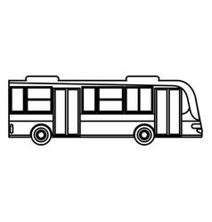 bus transport urban public outline vector image