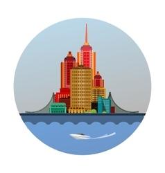 Emblem of the city vector