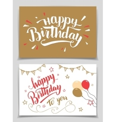 Happy Birthday greeting cards vector image vector image