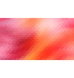 Red background with triangles shapes vector image vector image