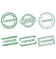 Vintage stamps vector image vector image