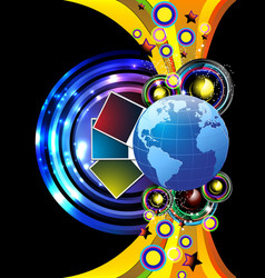 world and music vector image vector image