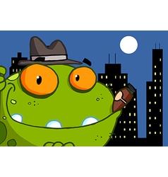 Mobster Frog Cartoon Character vector image vector image
