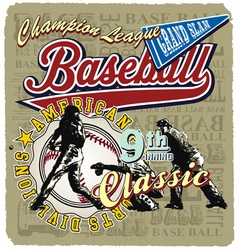 9th inning baseball champ vector image vector image