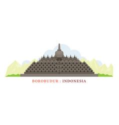 borobudur indonesia vector image vector image