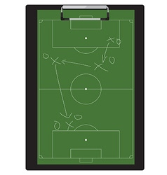 Soccer tactic vector image