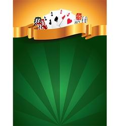 casino vertical background vector image vector image