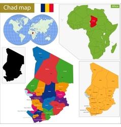 Chad map vector image
