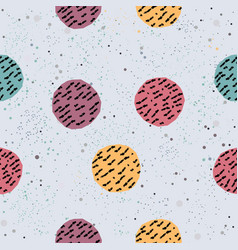 cute background seamless pattern with hand drawn vector image
