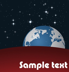 Earth in space vector