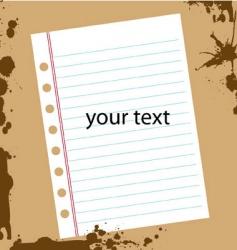 grunge textpaper vector image vector image