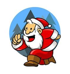 Happy run santa vector