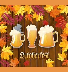 oktoberfest traditional german autumn festival of vector image