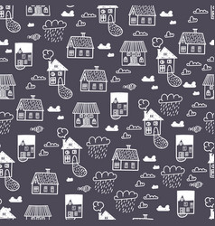 s town9spring town seamless pattern vector image vector image