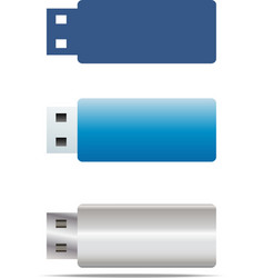 usb flash icons set vector image