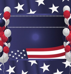 4th of july poster card vector