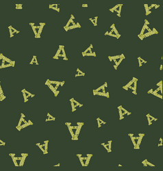 A from alfabet repeat pattern print background vector