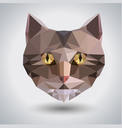 Abstract polygonal tirangle animal cat hipster vector