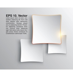 Abstract squares clean background Stylish design vector